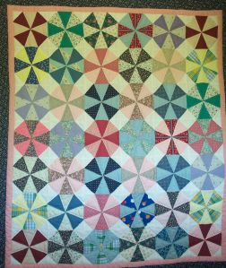 My first quilt, made with my mother-in-law, Lois Arnold in 1991