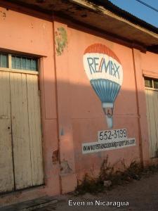 Sign in Granada, Nicaragua