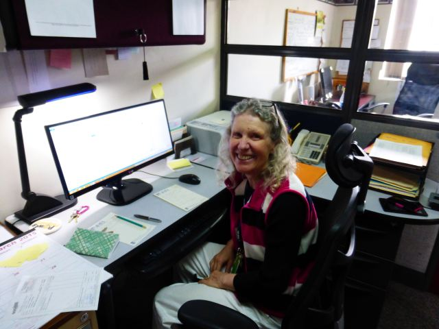 Jody at her desk