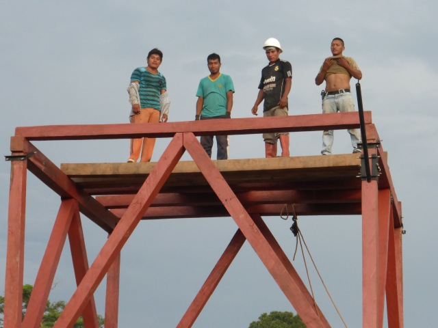 All the floor beams are finally up!