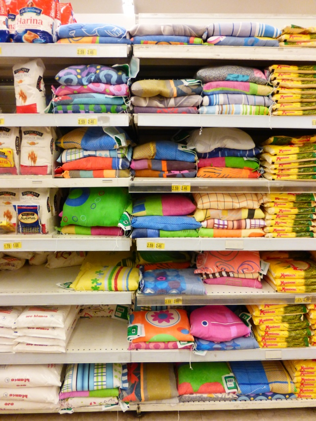 Flour sacks at the grocery store--free fabric!