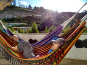 Day Two - Chugchilan: the tired hikers in the hammocks